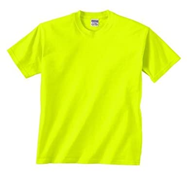 Safety Yellow Shirts >> Amazon Com Safety Green T Shirt In Your Choice Of Sizes Fashion
