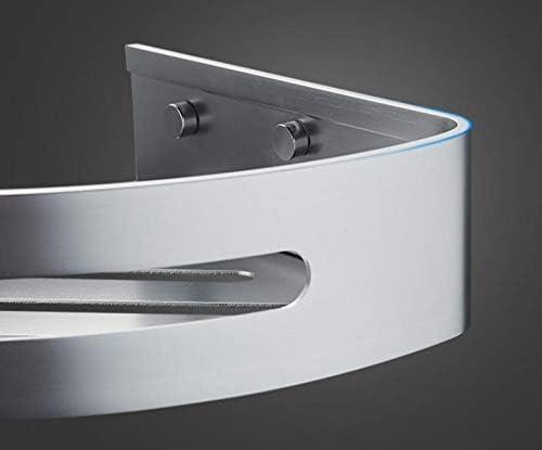 Étagère d'angle de coin de salle de bains en aluminium d'espace