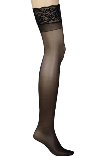Plus Size Hosiery Sheer Lace Top Thigh High Stockings 5x/6x (Plus Size Fishnet Stocking With Lace Top)