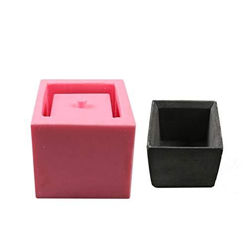 - WElinks Square Concrete Silicone Mold Planter Flower Pot Cement Vase Mould 3D DIY Craft Decor Ceramic Plaster Vase Clay Molds Plant Decorating Succulent Molds Handmade Garden Decoration Tool