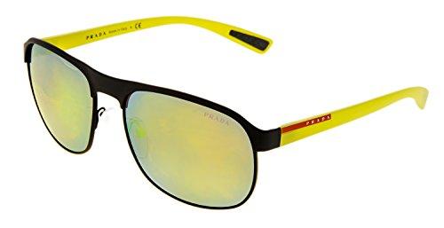 PRADA LINEA ROSSA Sport Square PS51QS Yellow Emerald Iridium Sunglasses - Prada Yellow Sunglasses