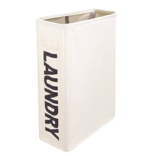 Nice Laundry Hamper With Wheels for Small Space - Slim-line Laundry Bins with Handles for Clothes Storage and Organization