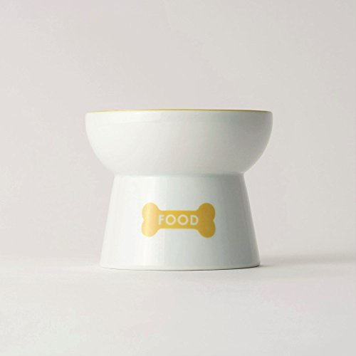 Dog-Friendly-Raised-Ceramic-Food-Bowl-Feeder-Stand-Microwavable-Easy-to-Clean-Dishwasher-Safe-Stoneware-No-Tipping-No-Spilling