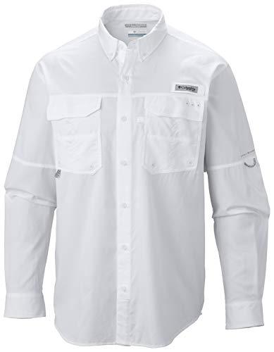 Columbia Blood and Guts III Long Sleeve Woven Shirt, White, Medium