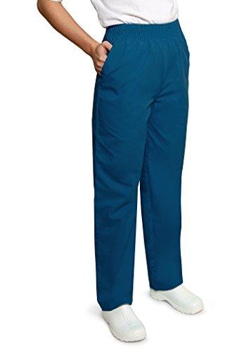 Adar Universal Classic Comfort Natural-Rise Tapered Leg Pants - 502 - Caribbean Blue - M