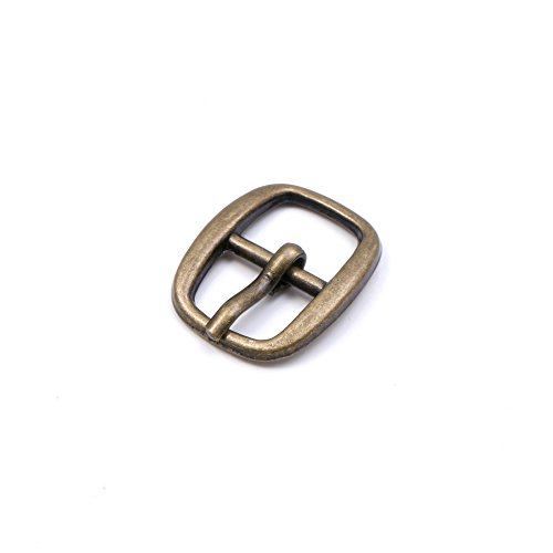 (GENCASE 10pcs 10mm Oval Metal Shoe Buckle Accessory Adjustable Roller Pin Buckle (Antique Gold))