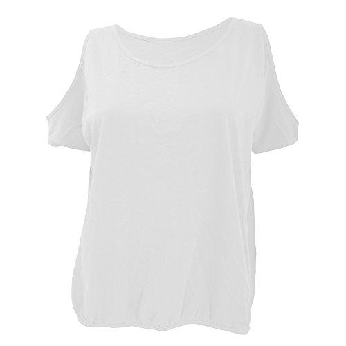 B&C Camiseta de manga corta Tropical con agujeros en los hombros para chica/mujer Azul liloso