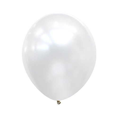 Neo LOONS 5 Pearl White Premium Latex Balloons -- Great for Kids , Adult Birthdays, Weddings , Receptions, Baby Showers, Water Fights, or Any Celebration, Pack of 100