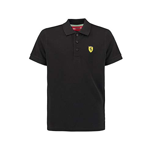 Ferrari Black Classic Shield Polo Shirt (Ferrari Uns)
