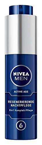 Nivea Men Active Age 6in1 Regenerierende Nachtpflege, Gesichtspflege, 1er Pack (1 x 50 ml)