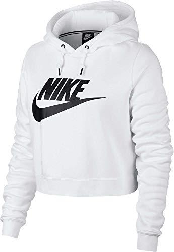 Nike Women's Sportswear Rally Cropped Hoodie (White/XX-Large)