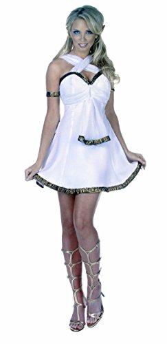 Underwraps Ladies Mythical Goddess Costume (Aphrodite Mini Dress)