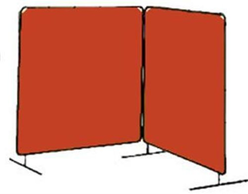 Tillman 6032066 6'X6' 14mil. 2 Panel Orange Vinyl Welding Curtain with Frame