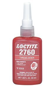 10ml Bottle 2760 High Strength/Surface Insensitive Threadlocker by HENKEL/LOCTITE USA