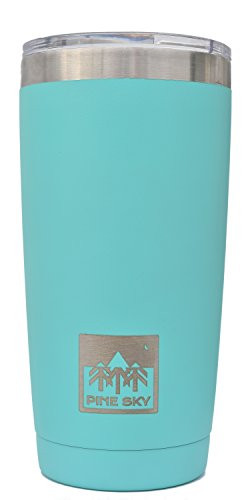 20oz Tumbler by Pine Sky, Vacuum Insulated Stainless Steel Travel Coffee Mug - Minty Fresh