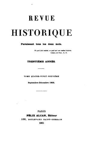 Read Online Revue historique - Tome 89 (French Edition) PDF