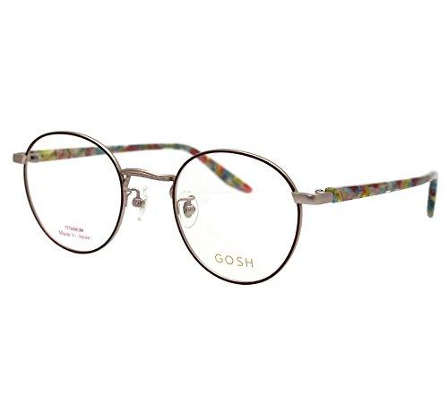 GOSH (ゴッシュ) ブルーカットPCメガネセット GO-604 カラー2 ブラウン ボストン型メガネ   B078MCVVWR