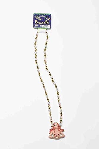 Mardi Gras Beads Light Up Boobs 33 Inch Show Me Beaded Necklace (1/Pkg) Pkg/12 -