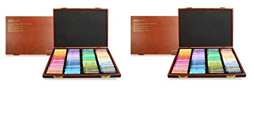 Mungyo Gallery Soft Oil Pastels Wood Box Set of 72 - Assorted Colors (Two Pack)