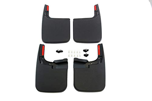 - Red Hound Auto Compatible with Ford (2017-2019 F-250 F-350 Super Duty) Mud Flaps Splash Guards Front and Rear Molded 4pc Full Set (for Vehicles Without Fender Flares)