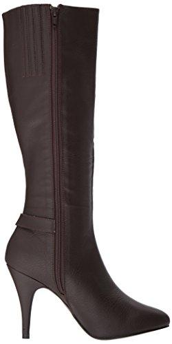Brown Dre2030 Women's Boot Bnpu Leather Pleaser Faux nS8ZwwU