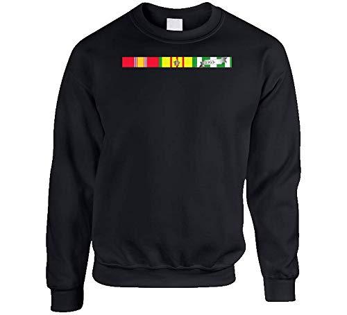MEDIUM - Army - Vietnam Ribbons Svc Bar Sweatshirt - Black