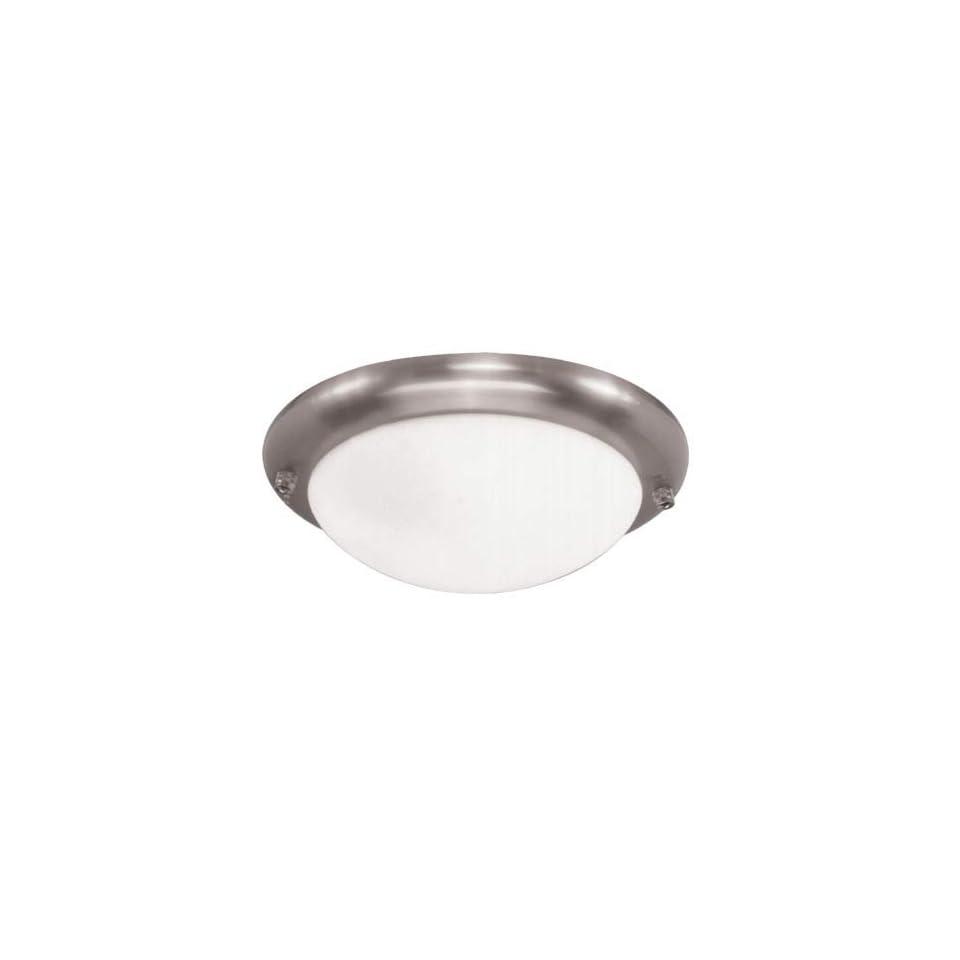 Sea Gull Lighting 1648 962 One Light Ceiling Fan Light Kit, Brushed Nickel with White Glass