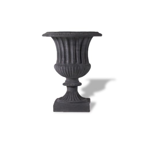 Amedeo Design ResinStone 2509-27C Classic Ribbed Urn, 28 by 28 by 34-Inch, Charcoal