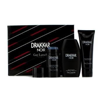 Guy Laroche Drakkar Noir Coffret: Eau De Toilette Spray 100ml/3.4oz + After Shave Balm 100ml/3.4oz + Deodorant Stick 75g/2.6oz 3pcs