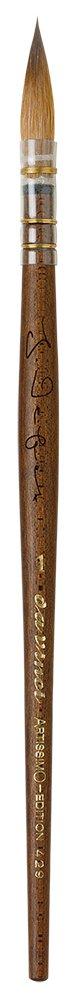 da Vinci 429-0 Artissimo Limited Edition Kolinsky Sable Quill Kebony Wood Handle, Size 0 da Vinci Brushes