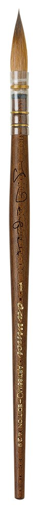 da Vinci 429-1 Artissimo Limited Edition Kolinsky Sable Quill Kebony Wood Handle, Size 1 by DaVinci