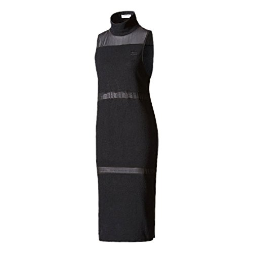 db48c093947 adidas Originals Black French Terry Turtle High Neck Towelling Midi Dress  at Amazon Women's Clothing store: