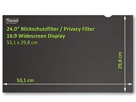 Thorani Desktop Privacy Filter 25 Zoll Blickschutzfolie f/ür Breitbild Computer- /& PC-Monitor sch/ützt vor unerw/ünschten Blicken 16:9