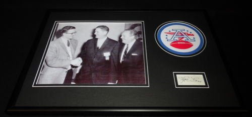 AFL Commissioner Joe Foss Signed Framed 12x18 Photo Display JSA