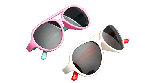 IVSTA Rubber Flexible Silicone Kids TR90 Aviator Style Polarized Sunglasses for Boys and Girls Children Age 3-10 - 2 - Sunglasses Polarization