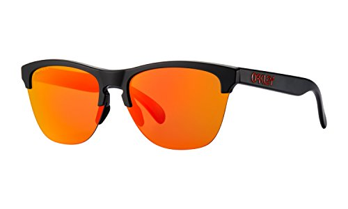 Oakley Frogskins Lite Sunglasses Matte Black with Prizm Ruby Lens + - Oakley Red Frogskins