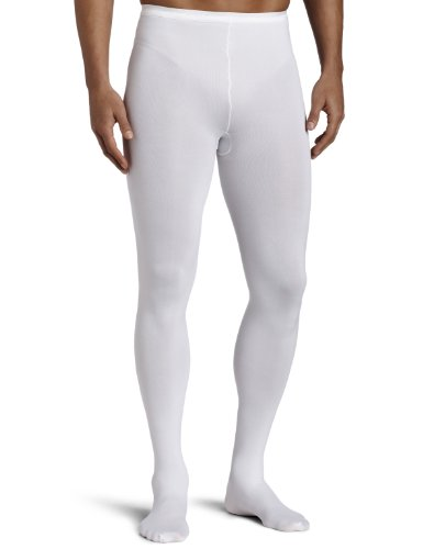 Capezio Dancewear Costumes (Capezio Men's Knit Footed Tights , Dyeable White, Large)