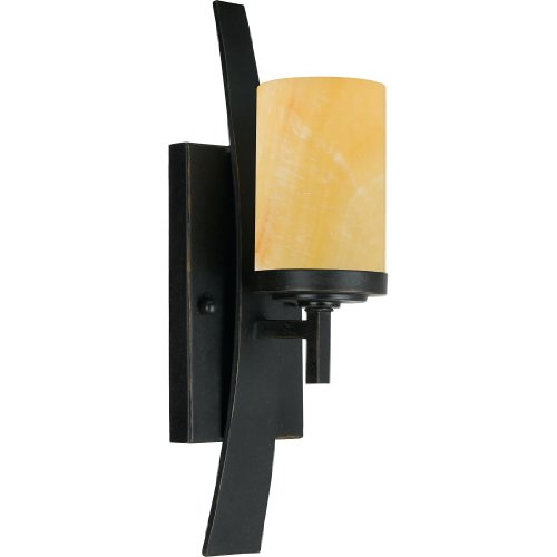 Quoizel KY8701IB Kyle Rustic Wall Sconce, 1-Light, 100 Watts, Imperial Bronze (16