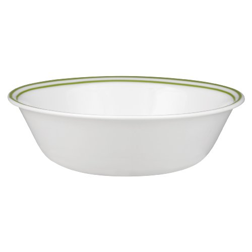 (Corelle Livingware Spring Pink Collection 18-oz Green Lined Bowl, 6 pack)