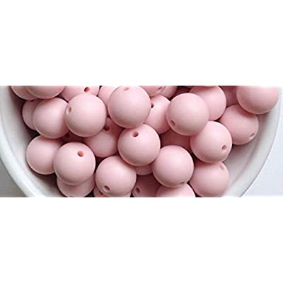 10 Powder Pink Teething Beads 15mm 100% Food Grade Silicone BPA Free - Crafts and Jewelry Making: Arts, Crafts & Sewing