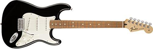 Fender 4 String Standard Stratocaster Electric Guitar-PAU Ferro Fingerboard, Black, ()