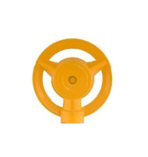 QVS 004113 MOM's Large Metal Round Pattern Sprinkler, Yellow ()