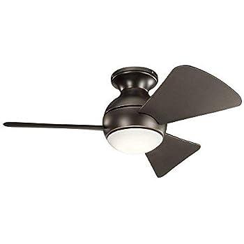 Amazon Com Kichler 330150oz 34 Inch Sola Ceiling Fan Led