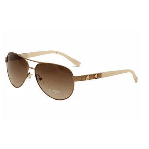 Guess 7279 ROGLD-34 Aviator Rose Gold Sunglasses Pink Gradient - Sunglasses Pink Guess