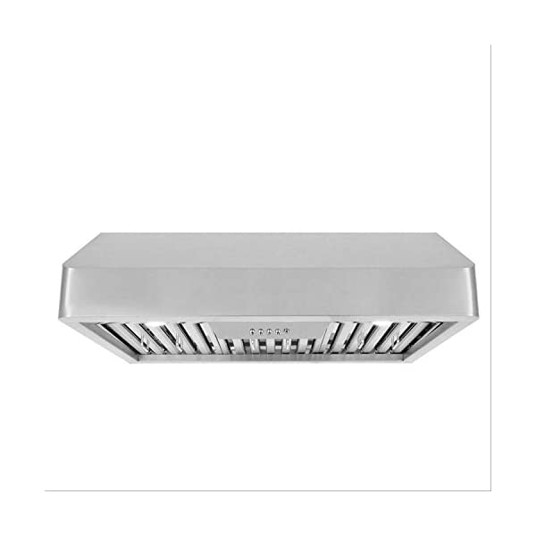 Cosmo QB75 30 in Under-Cabinet Range Hood 900-CFM | Ducted/Ductless Convertible Duct,...