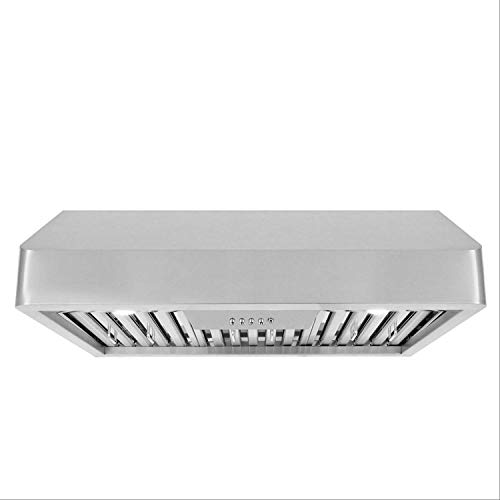 Cosmo QB75 30 in Under-Cabinet Range Hood 900-CFM | Ducted/Ductless Convertible Duct, Kitchen Over Stove Vent with LED Light, 3 Speed Exhaust Fan, Permanent Reusable Filter