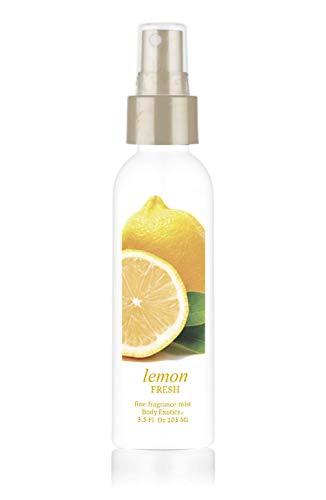Lemon Fresh Perfume 'Happiness in a Bottle' Body Exotics Fine Fragrance Mist 3.5 Fl Oz 103 Ml ~ a Fresh Burst of lemony Goodness! Made with Italian Lemon Oil ()