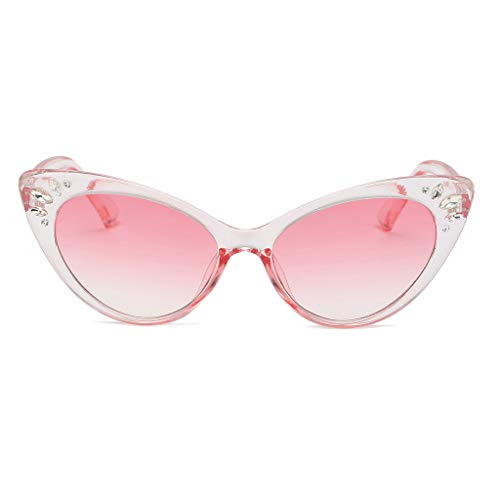 50s Vintage Cat Eye Sunglasses for Womens with Rhinestones Pinup Girl Clothing Rockabilly Accessories(Multicolor1.6)