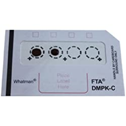GE Whatman FTA WB129243 DMPK-C Cards for Dried Blood Spot (DBS) DNA Analysis and Archiving (Pack of 100)