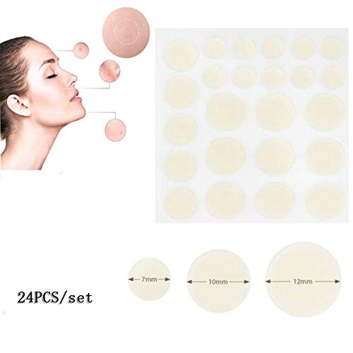 Yiwa Face Acne Pimple Patch Treatment Spot Scar Care Stickers Anti Infection Pimple Spot Invisible Hydrocolloid 24pcs/set